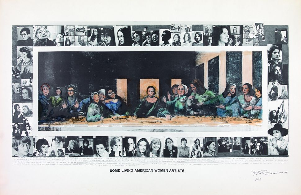 "Mary Beth Edelson, ""Some Living American Women Artists / Last Supper,"" 1972"