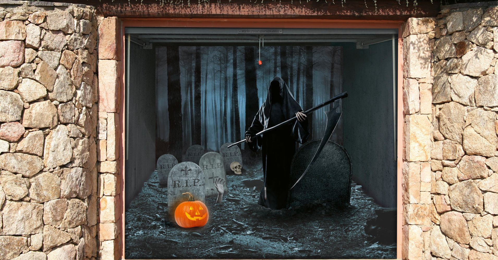 These Spooky Garage Door Stickers Are What Halloween Is  ~ 013644_Halloween Garage Door Decals