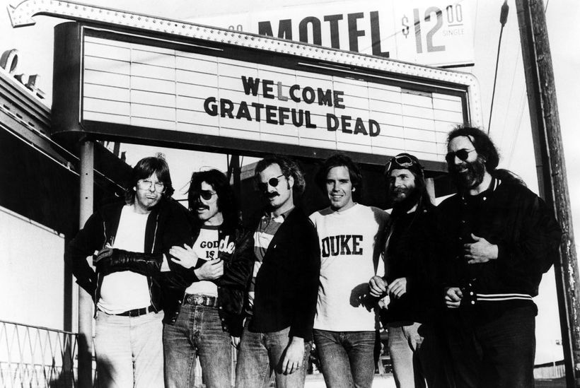 Mickey Hart with Grateful Dead band mates