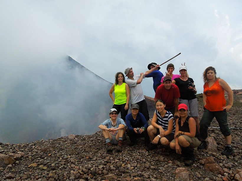Next to a volcano in Nicaragua during my early years of organizing treks with the DC area outdoor groups.  Recently, I self-p