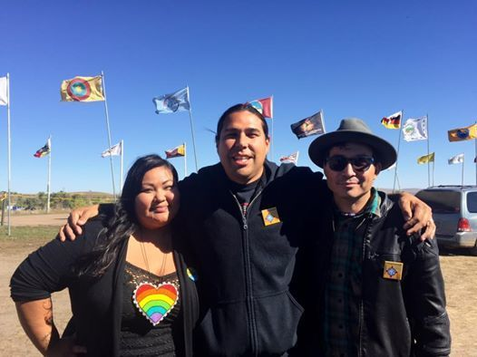 Native American Organizers (L to R): Candi Brings Plenty, Dallas Goldtooth, Scotti Clifford