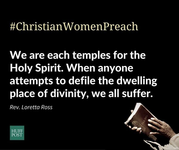 """I signed in order to stand in solidarity with my sisters in our shared faith in a loving God. <strong>We are each temples fo"