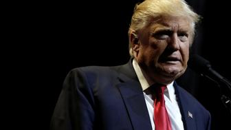 Republican U.S. presidential nominee Donald Trump speaks at a campaign rally in Cincinnati, Ohio, U.S., October 13, 2016.   REUTERS/Mike Segar