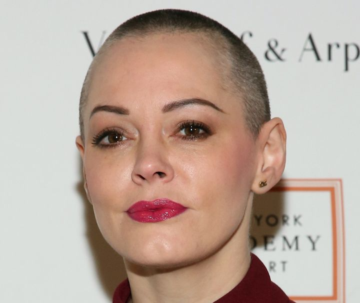 Rose McGowan attends New York Academy Of Art's Tribeca Ball in 2016.