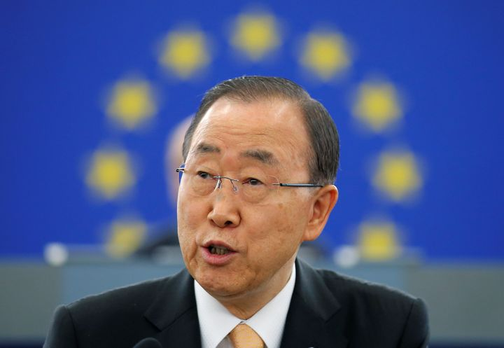 U.N. Secretary-General Ban Ki-moon tooka veiled swipe at Donald Trump.