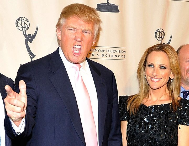 "Donald Trump and Marlee Matlin attend An Evening with ""The Celebrity Apprentice"" at Florence Gould Hall on April 26, 2011 in New York City."