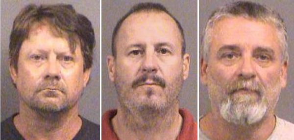 Patrick Stein, Curtis Allen and Gavin Wright were arrested for an alleged plot to attack Muslims in Kansas.