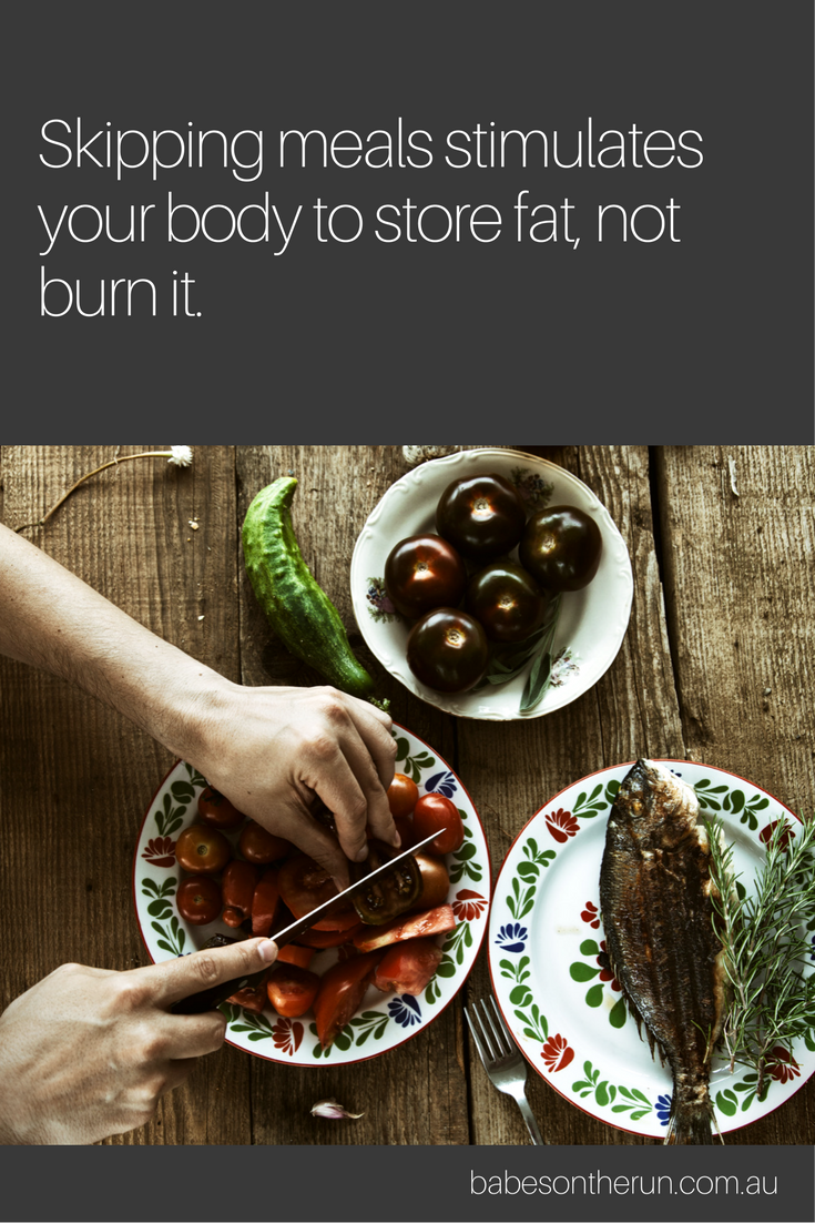 Food isn't the enemy. In fact, eating can help you lose fat.