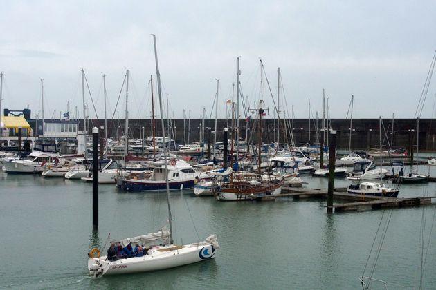Boats moored at Brighton Marina, where the two men set off