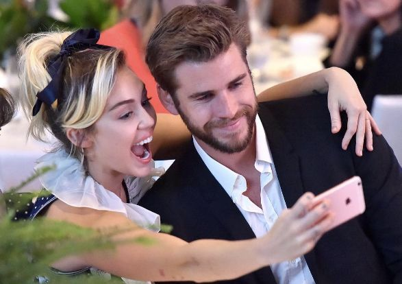 Miley does date night.