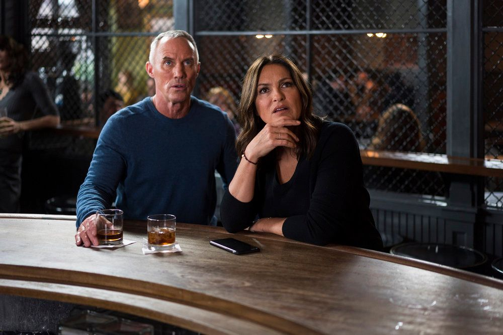 "LAW & ORDER: SPECIAL VICTIMS UNIT -- ""Unholiest Alliance"" Episode 1718 -- Pictured: (l-r) Robert John Burke as Capt. Ed Tucker, Mariska Hargitay as Olivia Benson -- (Photo by: Michael Parmelee/NBC)"
