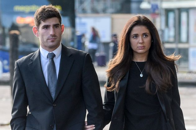 Ched Evans, pictured with his partner Natasha Massey, has sought to 'disassociate' himself from anyone...