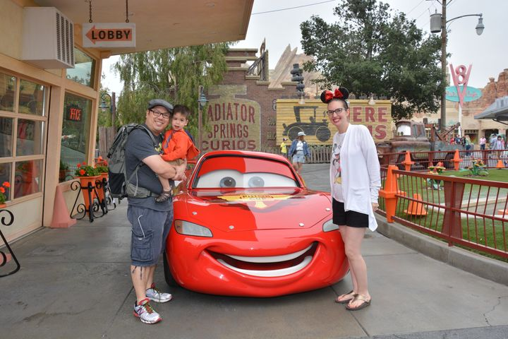 My toddler was thrilled to meet his favorite Disney character: Lightning McQueen!