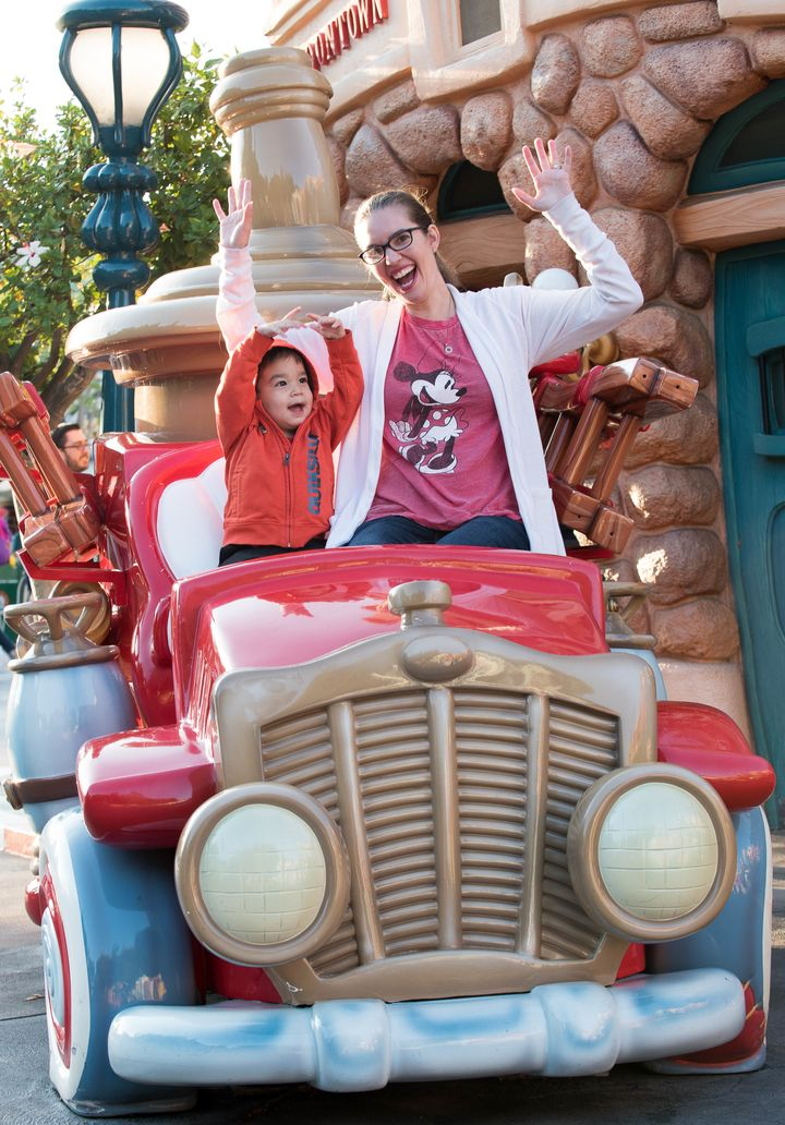 Sitting in the cars in Toon Town was a bit hit for my toddler!