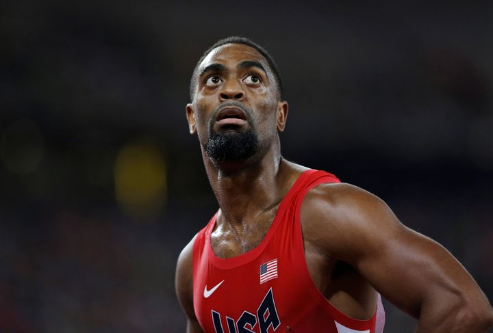 Gay's father, Tyson Gay, lives in central Florida and expressed shock and confusion at the violence that kille