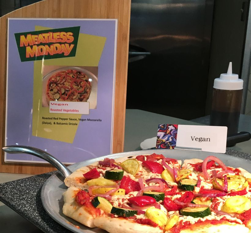 One of Hendrix's popular vegan pizzas