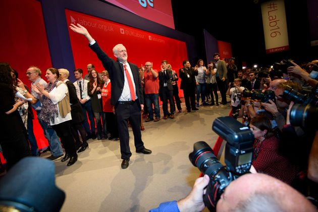 Jeremy Corbyn on the last day of the Labour conference in