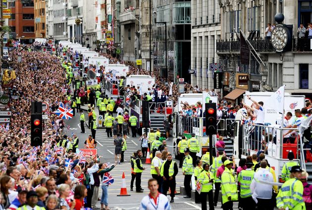GB's Olympic and Paralympic athletes will parade through the streets of Manchester on