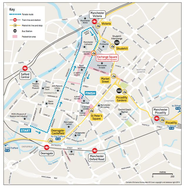 Manchester Olympic Parade Route Plus Road Closures And Entertainment