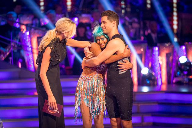 Naga and her pro partner Pasha Kovalev are out of the