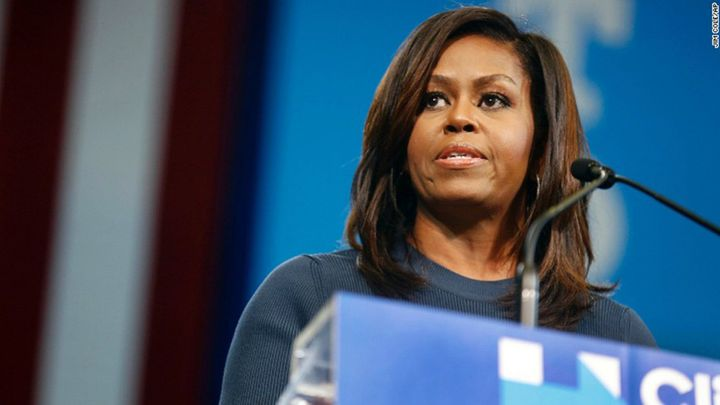 Michelle Obama - known as 'The Closer' - once more captured her audience in a powerful, impassioned campaign speech. (AFP)