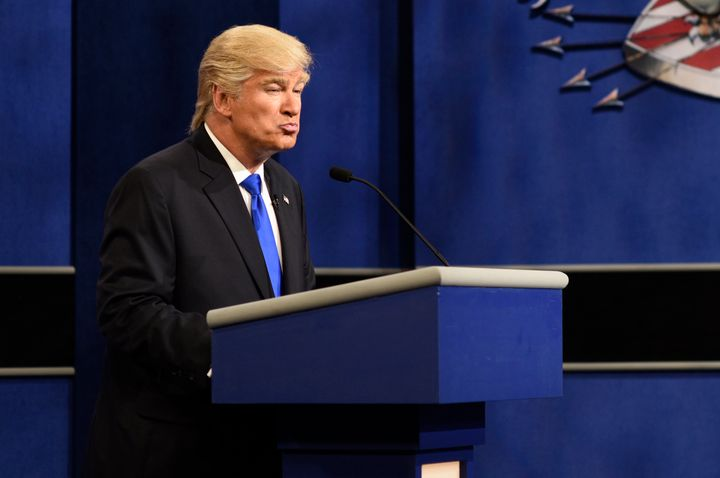 SATURDAY NIGHT LIVE --  Alec Baldwin as Republican Presidential Candidate Donald Trump during the 'Debate Cold Open' ske