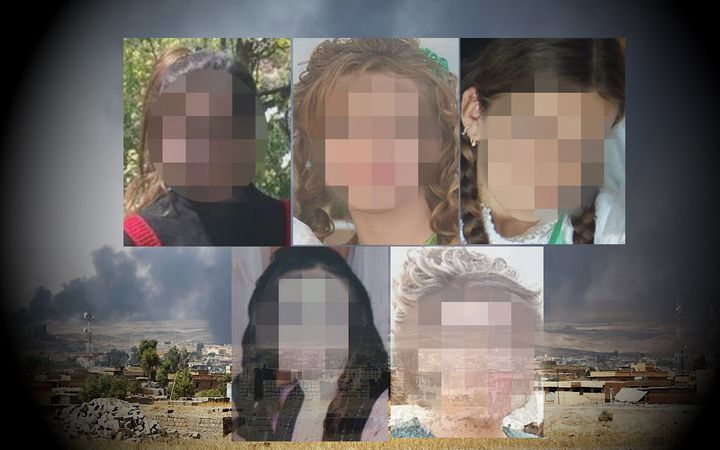 Warida has five sisters who are still being held by ISIS in Iraq and Syria. Their faces have been blurred to protect the