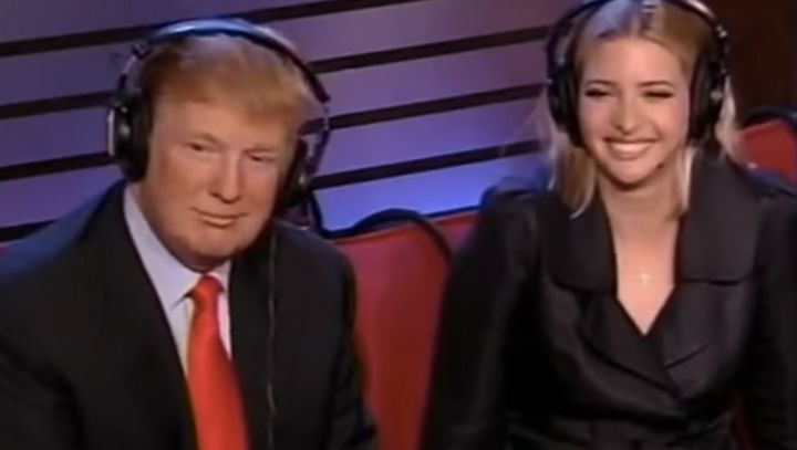Donald Trump visits Howard Stern with Ivanka and Donald Jr. in 2006.