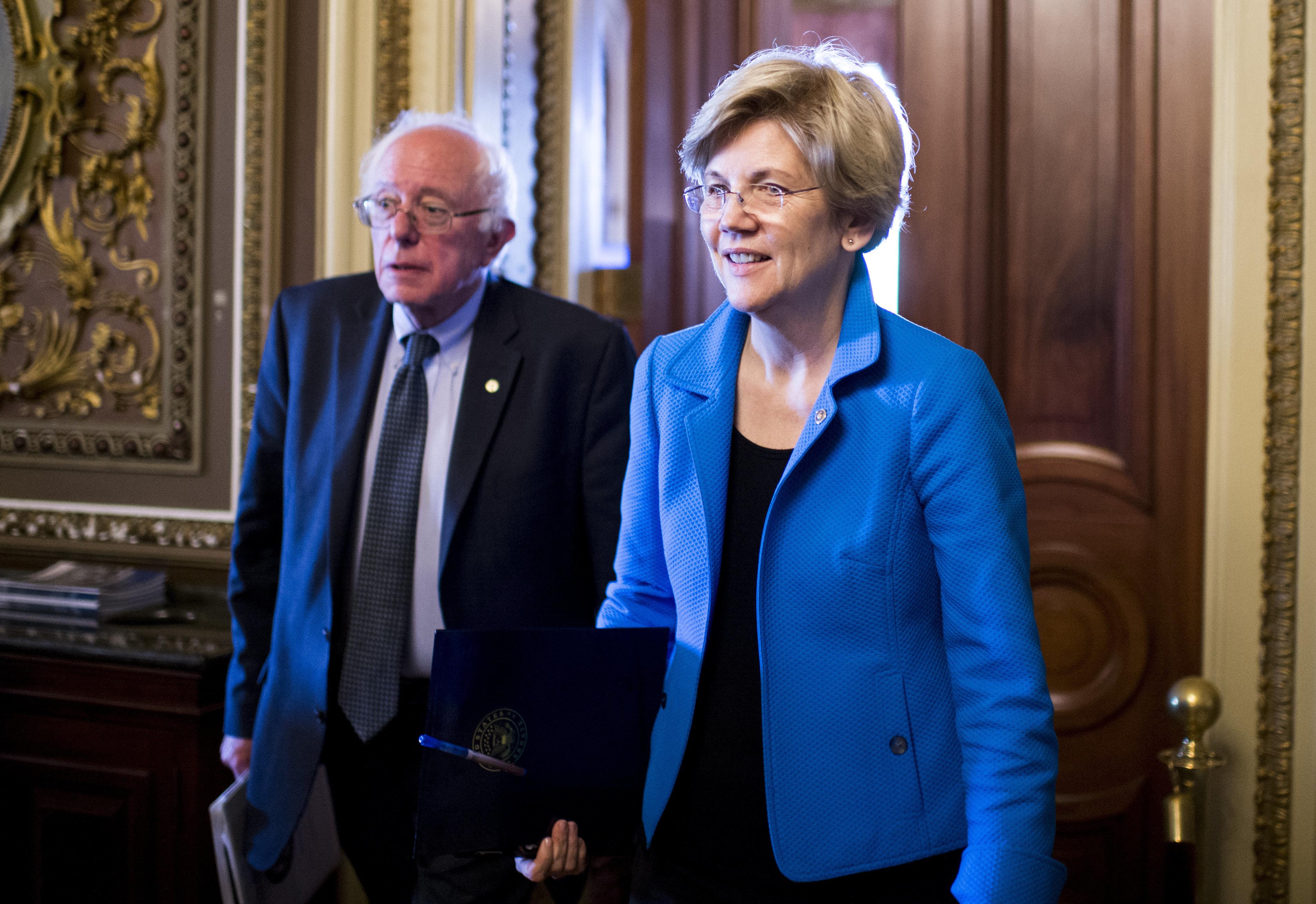 Sens. Elizabeth Warren (D-Mass.) and Bernie Sanders (I-Vt.) hit the trail for Democratic presidential nominee Hillary Clinton