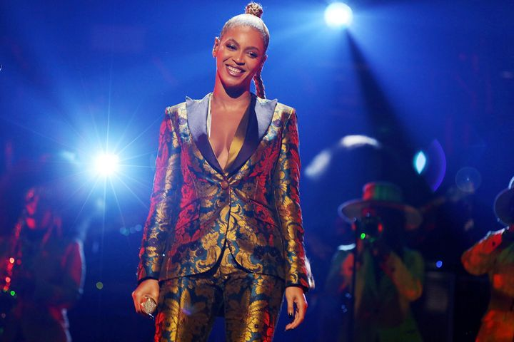 Beyonce performs atTIDAL X: 1015 on Oct. 15in New York City.