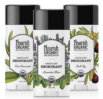 Nourish Organic Deodorant avoids harsh ingredients, such as aluminum