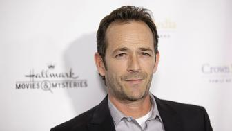 LOS ANGELES, CA - NOVEMBER 04:  Luke Perry arrives for the Hallmark Channel Presents 'Northpole' Premiere Screening at La Piazza Restaurant on November 4, 2014 in Los Angeles, California.  (Photo by Gabriel Olsen/FilmMagic)