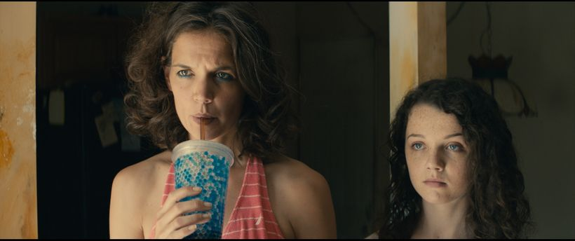 "Katie Holmes and Stefania Owen as Rita and Ruthie Carmichael in ""All We Had."""