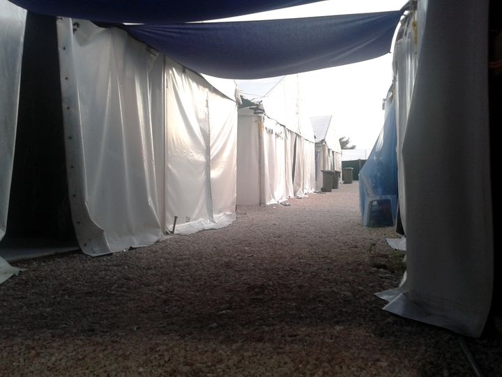 An exterior view of the family living quarters at the Refugee Processing Centre on Nauru in 2015.