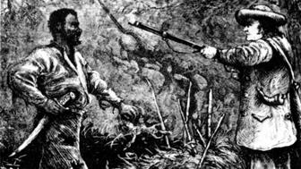 The discovery of Nat Turner following the failure of his rebellion, 19th, United States, New York. Public Library, . (Photo by: Photo12/UIG via Getty Images)