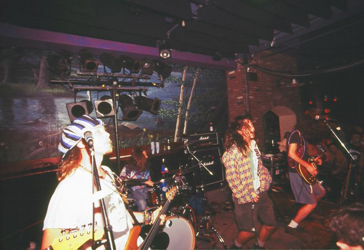 Pearl Jam performing in 1991.