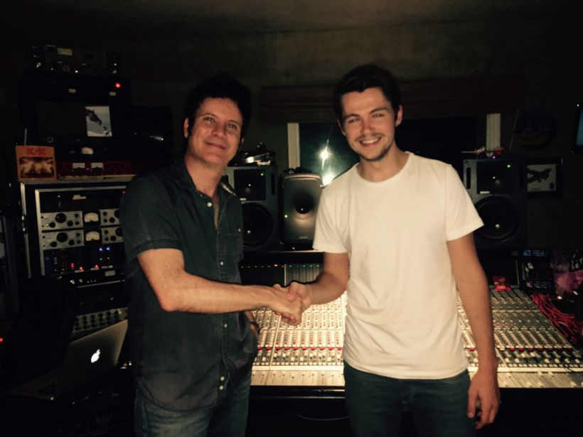 Warren Huart and Damian in Warren's studio