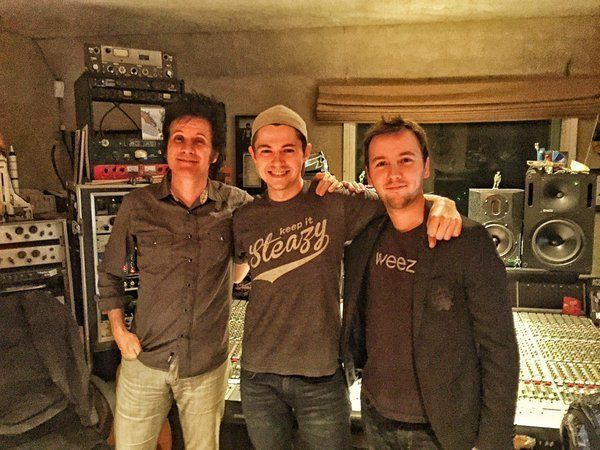 Warren Huart with Damian and co-writer Tom Harrison
