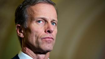 UNITED STATES - FEBRUARY 09: Sen. John Thune, R-S.D., attends a news conference after the Senate Policy luncheons in the Capitol, February 09, 2016. (Photo By Tom Williams/CQ Roll Call)