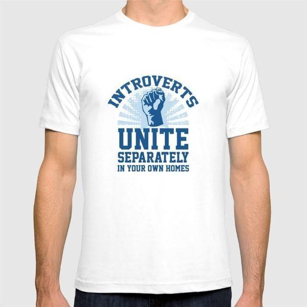 "Introverts Unite T-Shirt, $24, <a href=""https://society6.com/product/introverts-unite-m6f_t-shirt#s6-3628360p15a4v104a5v17a11"