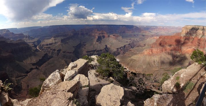 Overall view from the south Rim of the Grand Canyon near Tusayan, Arizona August 10, 2012. The Grand Canyon, carved out over