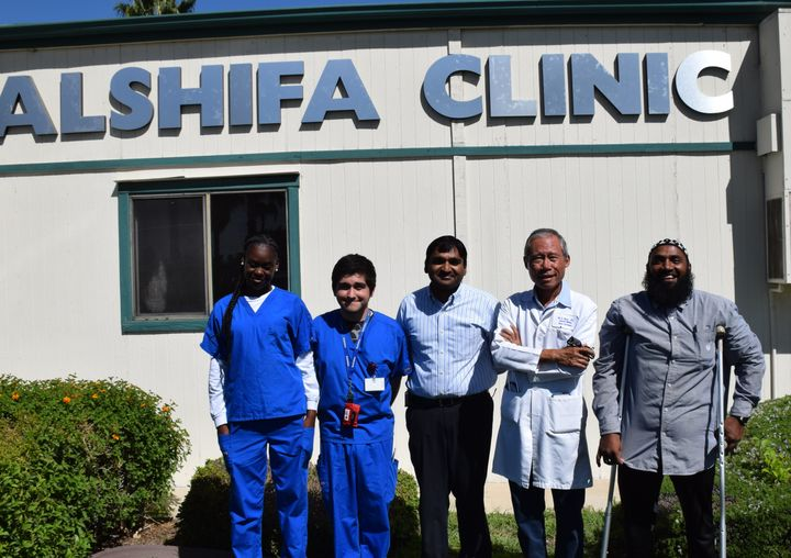 The staff of the Al-Shifa health clinic.