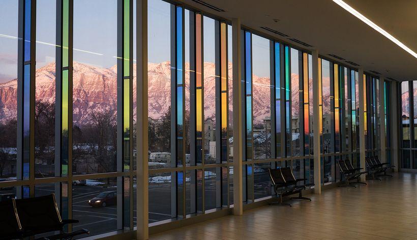 Catherine Widgery. Sky Veil: Juvenile Courthouse in Ogden, Utah. (dusk)