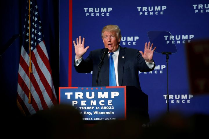 Donald Trump and Mike Pence failed to submit any biographical information for inclusion in Alaska's officialelection pa