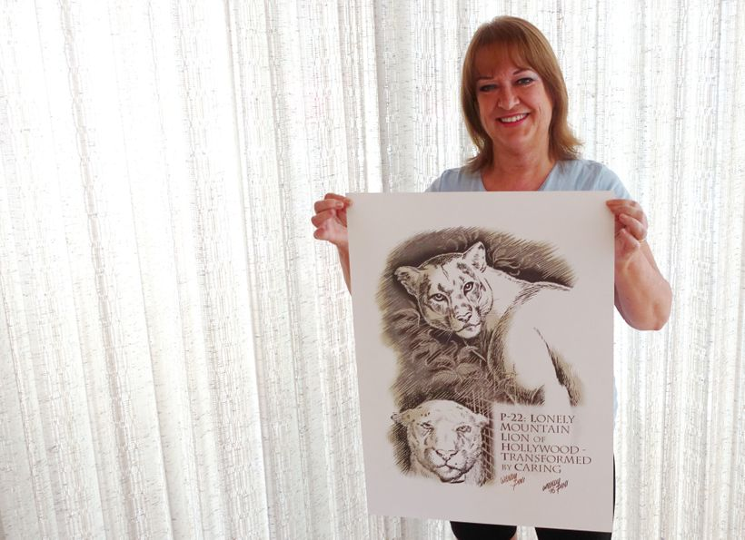 Legendary comics artist Wendy Pini created an art print to support the National Wildlife Federation's #SaveLACougars campaign
