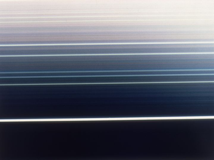 A false-color image taken by Voyager shows the rings of Uranus. Astronomers believe they've foundevidence of twop
