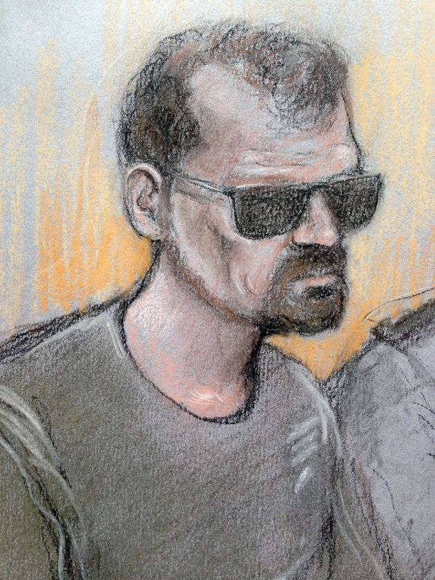 Stefano Brizz, pictured above in a court sketch, is due to stand trial for the murder of PC Gordon