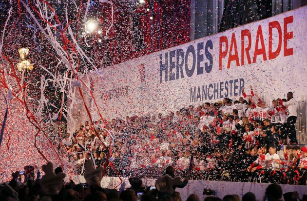 Olympic and Paralympic athletes are given a heroes' welcome in