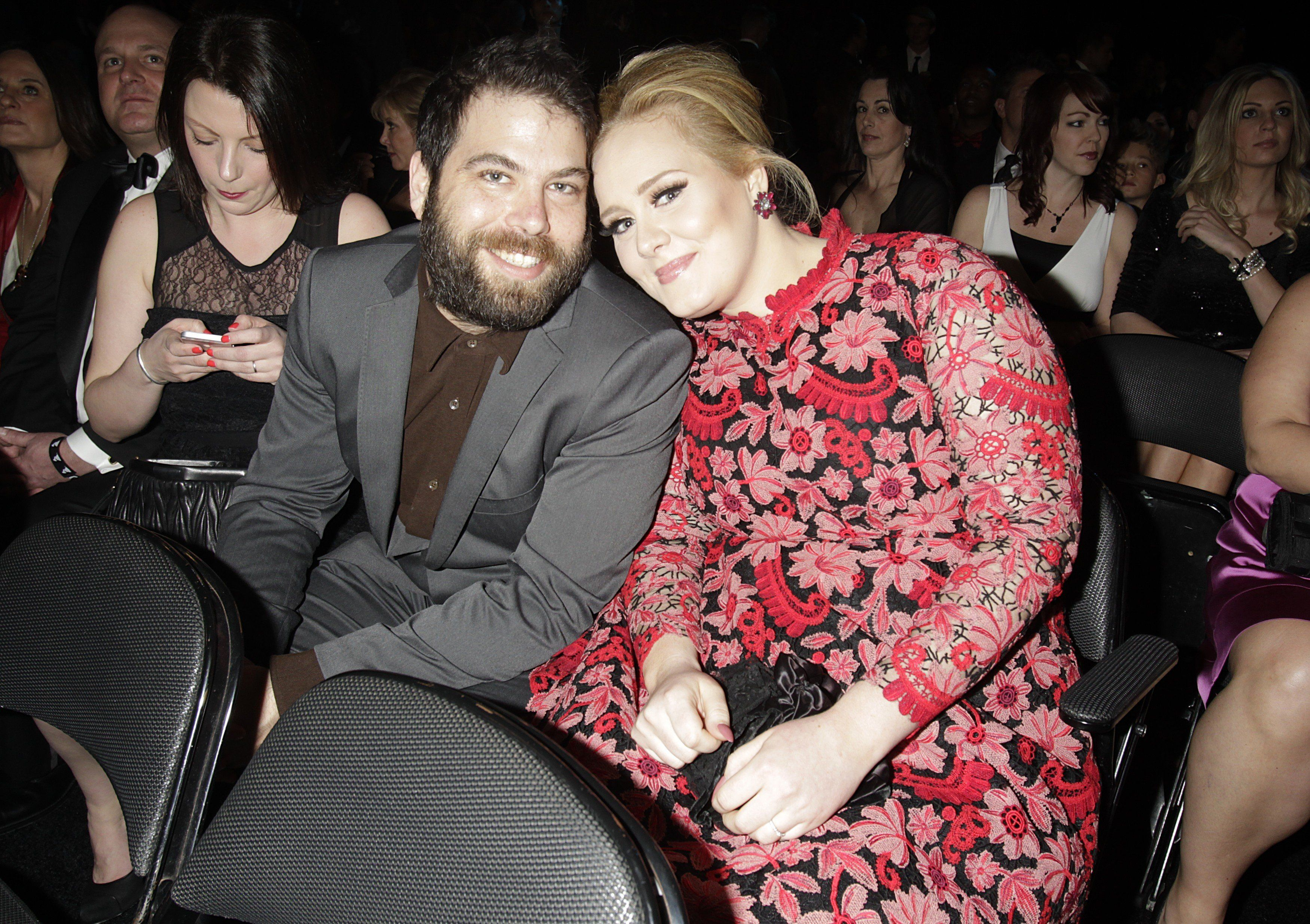 Adele and Simon Konecki looking adorable at the Grammys in