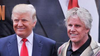 NEW YORK, NY - OCTOBER 12:  Castmembers actress Lisa Renna businessman/host Donald Trump and actor Gary Busey attend the 'Celebrity Apprentice All Stars' Season 13 Bus Tour at  on October 12, 2012 in New York City.  (Photo by Stephen Lovekin/Getty Images)